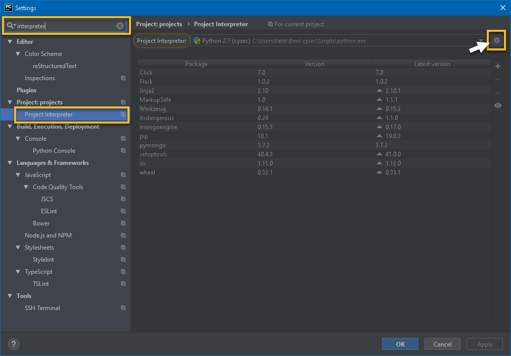 pycharm ve azure